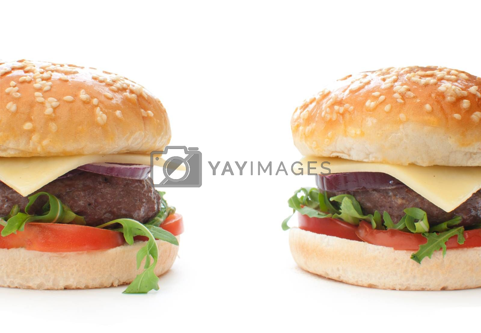Royalty free image of Cheeseburgers  by unikpix