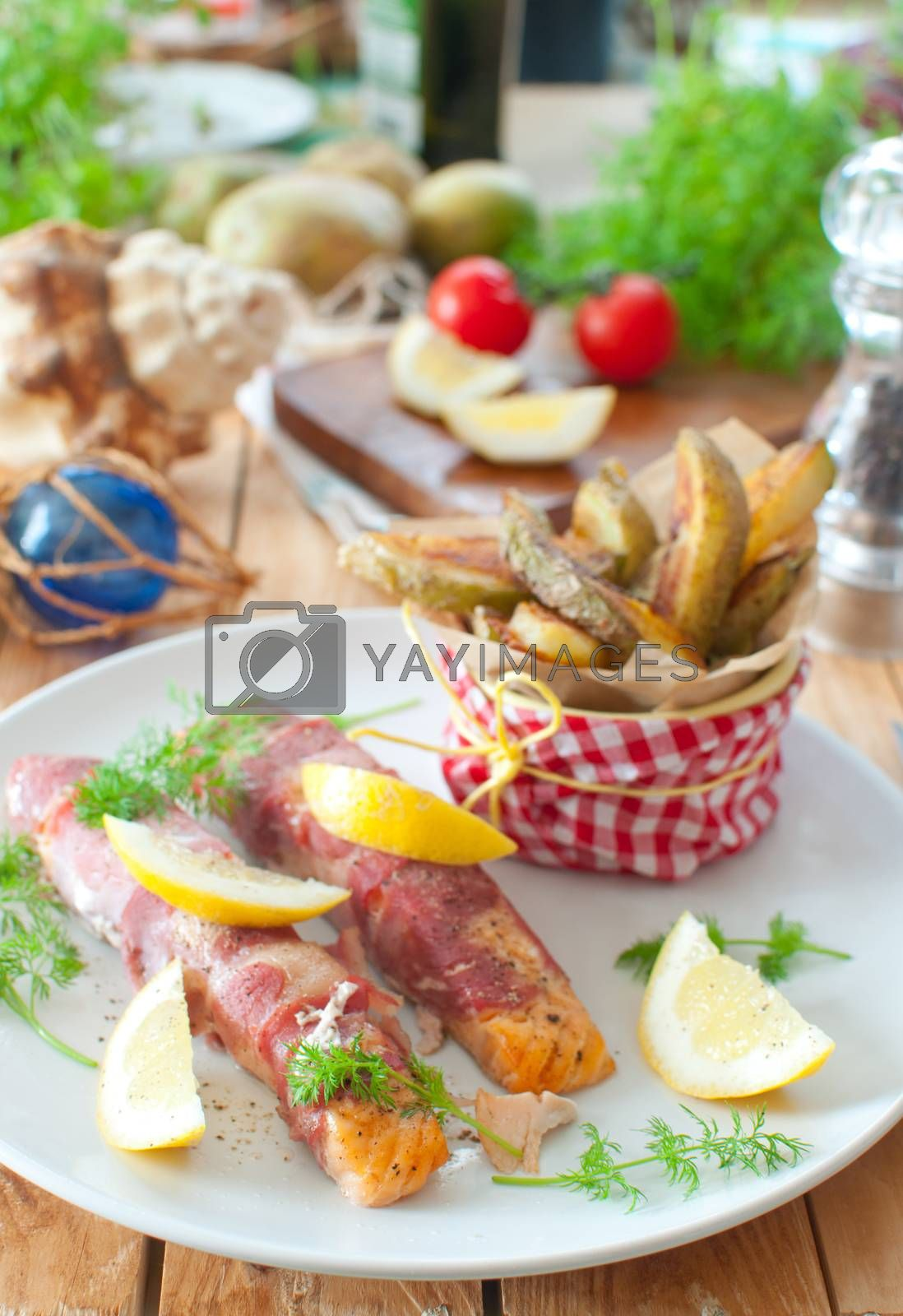 Royalty free image of Seafood meal by unikpix