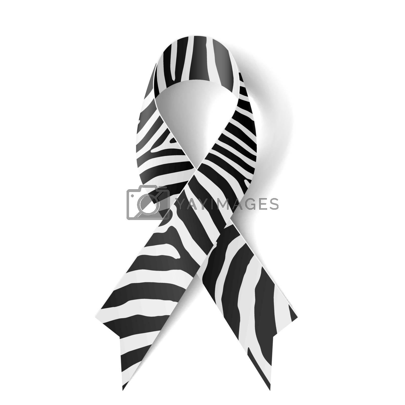 Royalty free image of Zebra-print ribbon by dvarg
