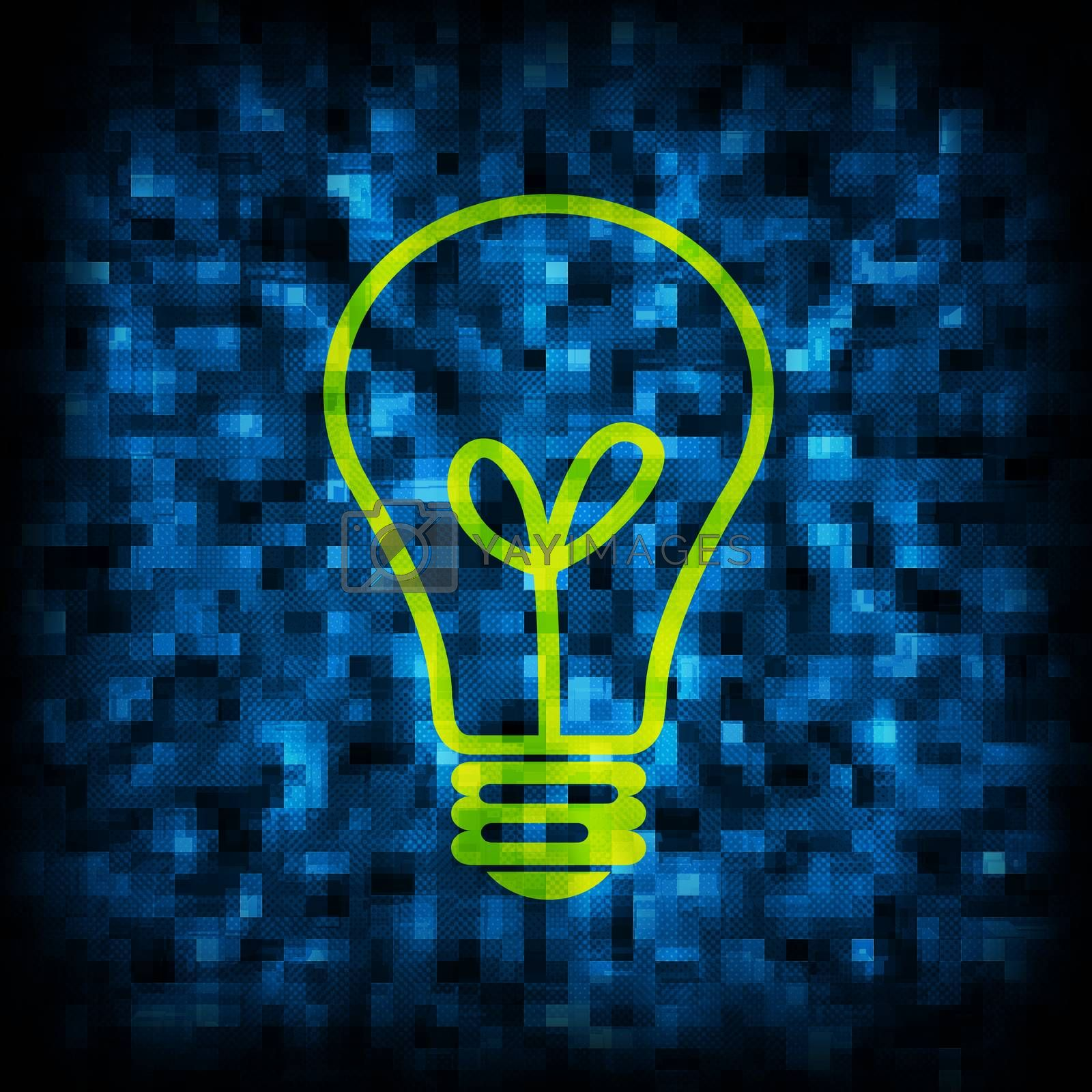 Royalty free image of Binary code and light bulb icon by cherezoff