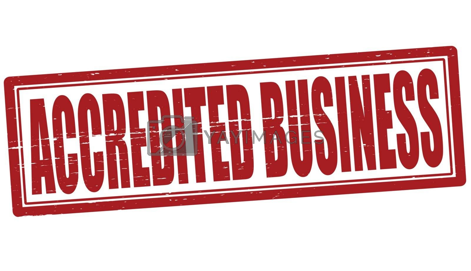 Royalty free image of Accredited business by carmenbobo