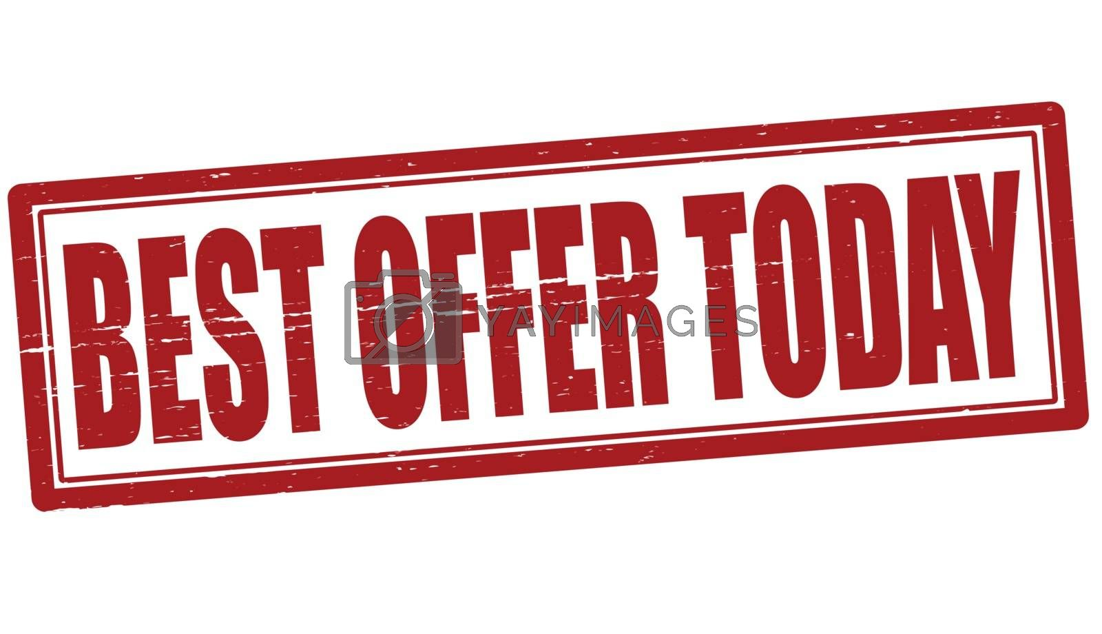 Royalty free image of Best offer today by carmenbobo