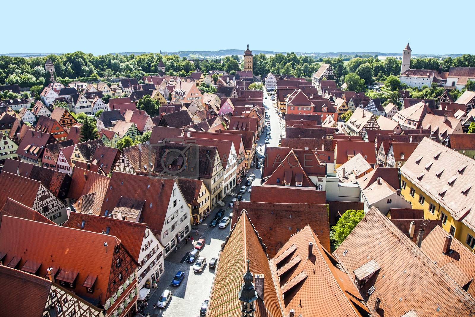 Royalty free image of romantic Dinkelsbühl, city of late middleages by meinzahn