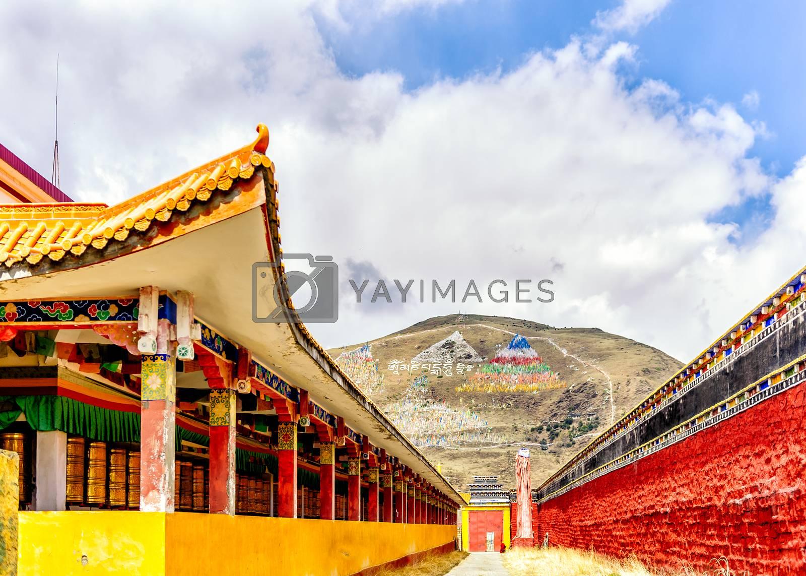 Royalty free image of Lharong Monastery of Sertar by JasonYU