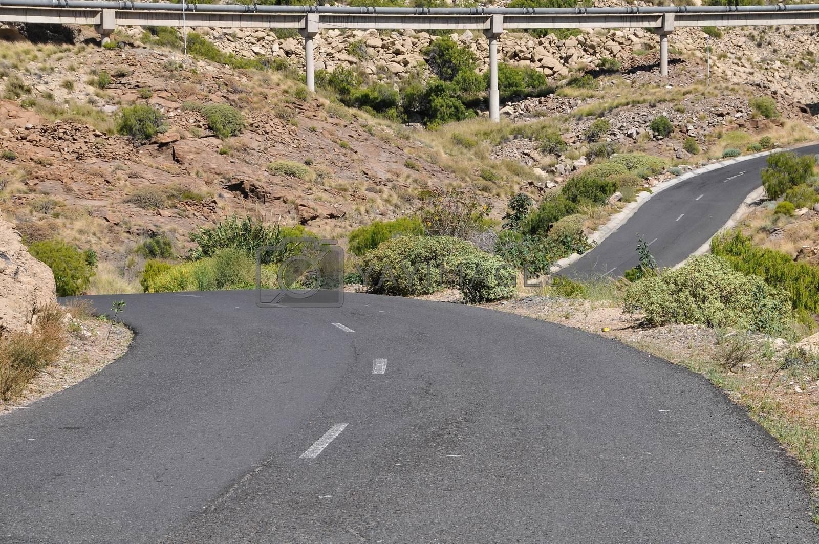 Royalty free image of desert road by underworld