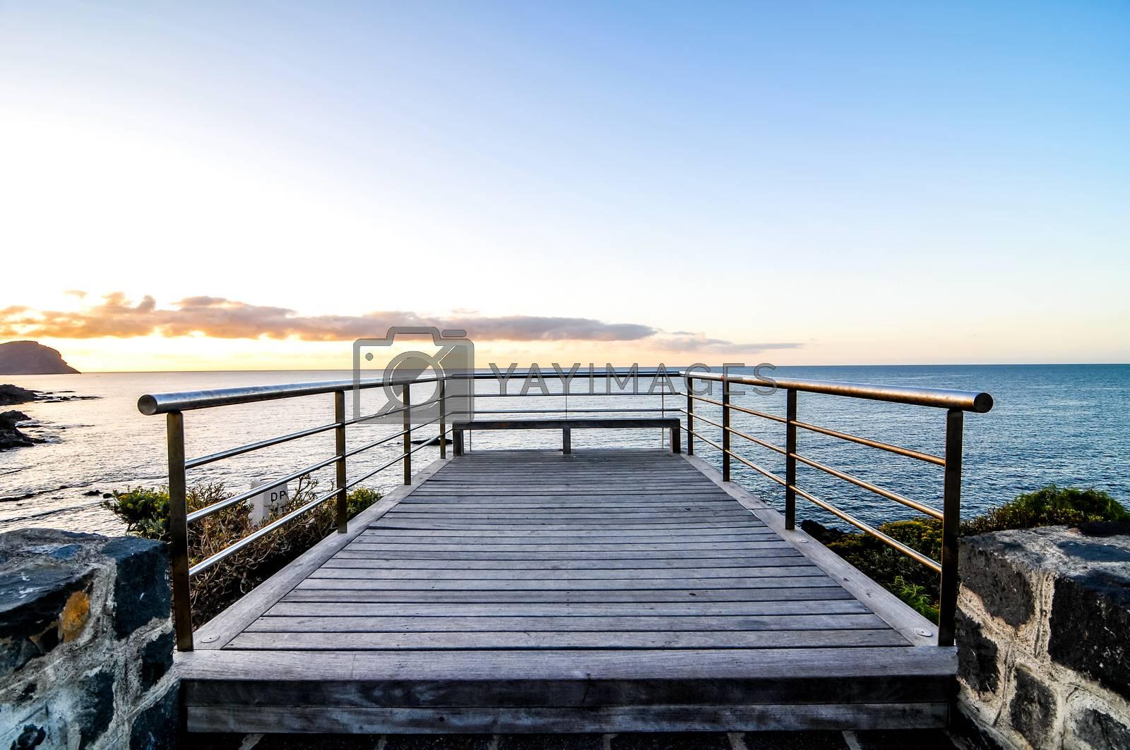 Royalty free image of Sunrise Pier by underworld