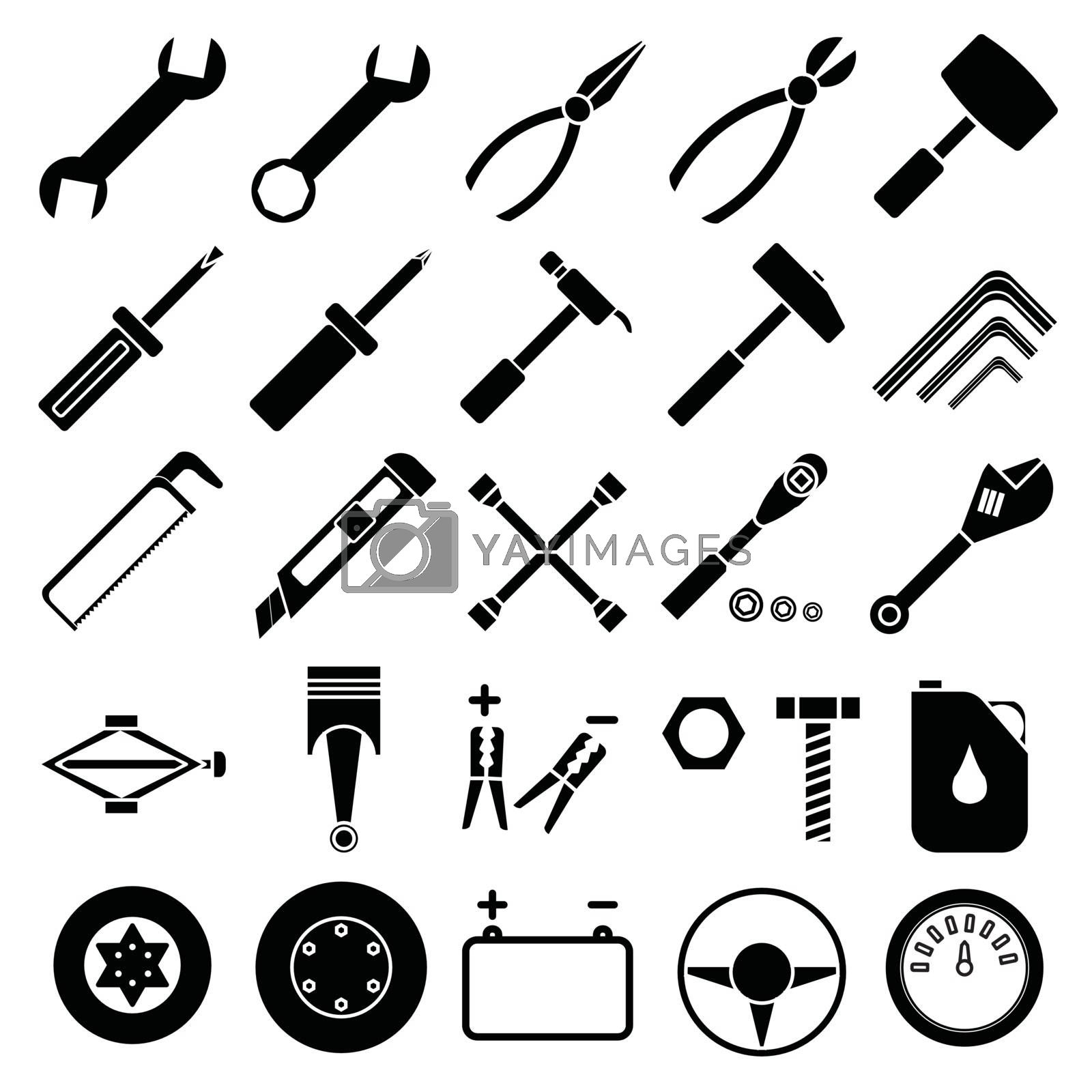 Royalty free image of Auto Mechanic Tools set vector by attaphong
