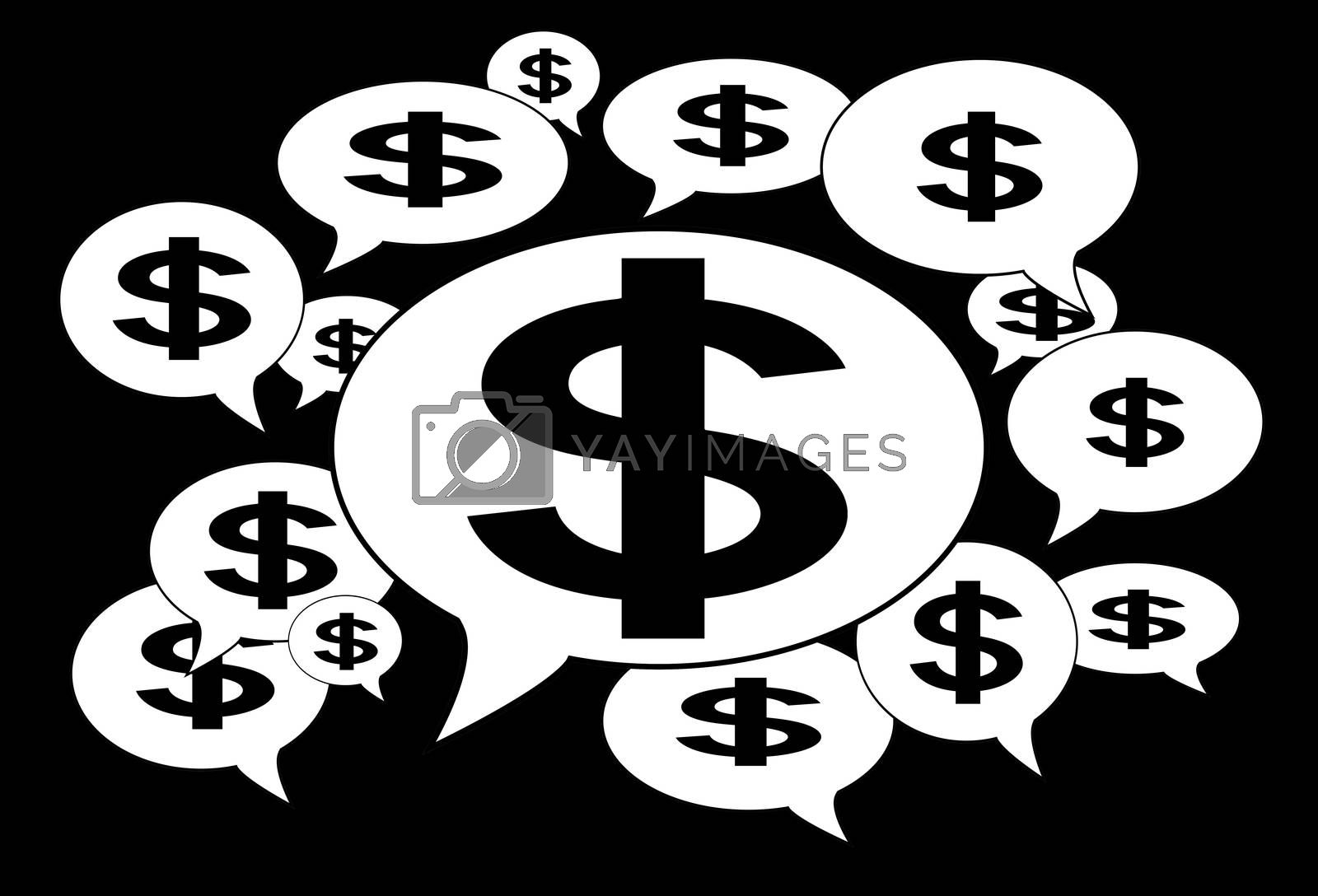 Royalty free image of Communication and business concept - Speech cloud by michaklootwijk