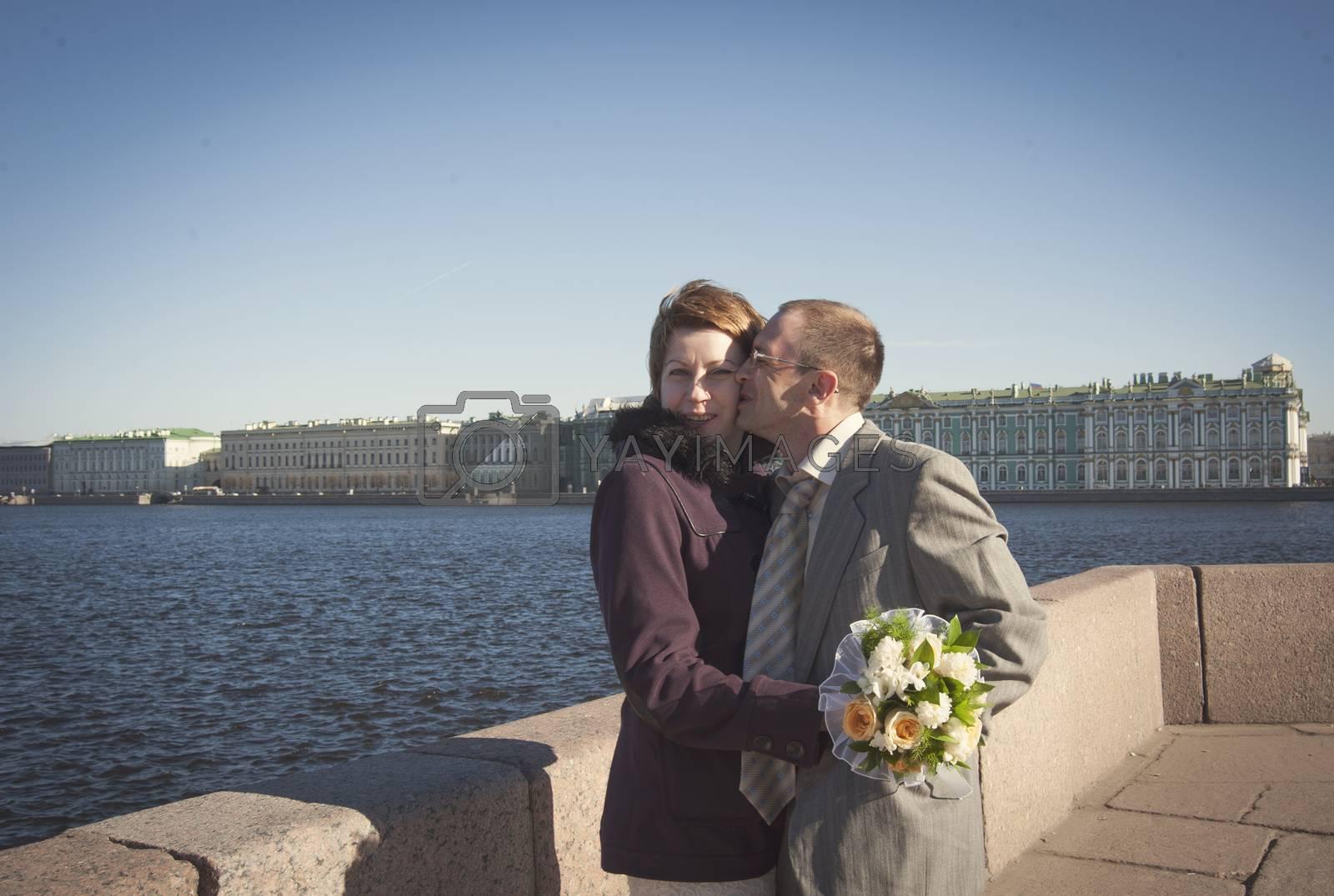 Royalty free image of happy couple by raduga21