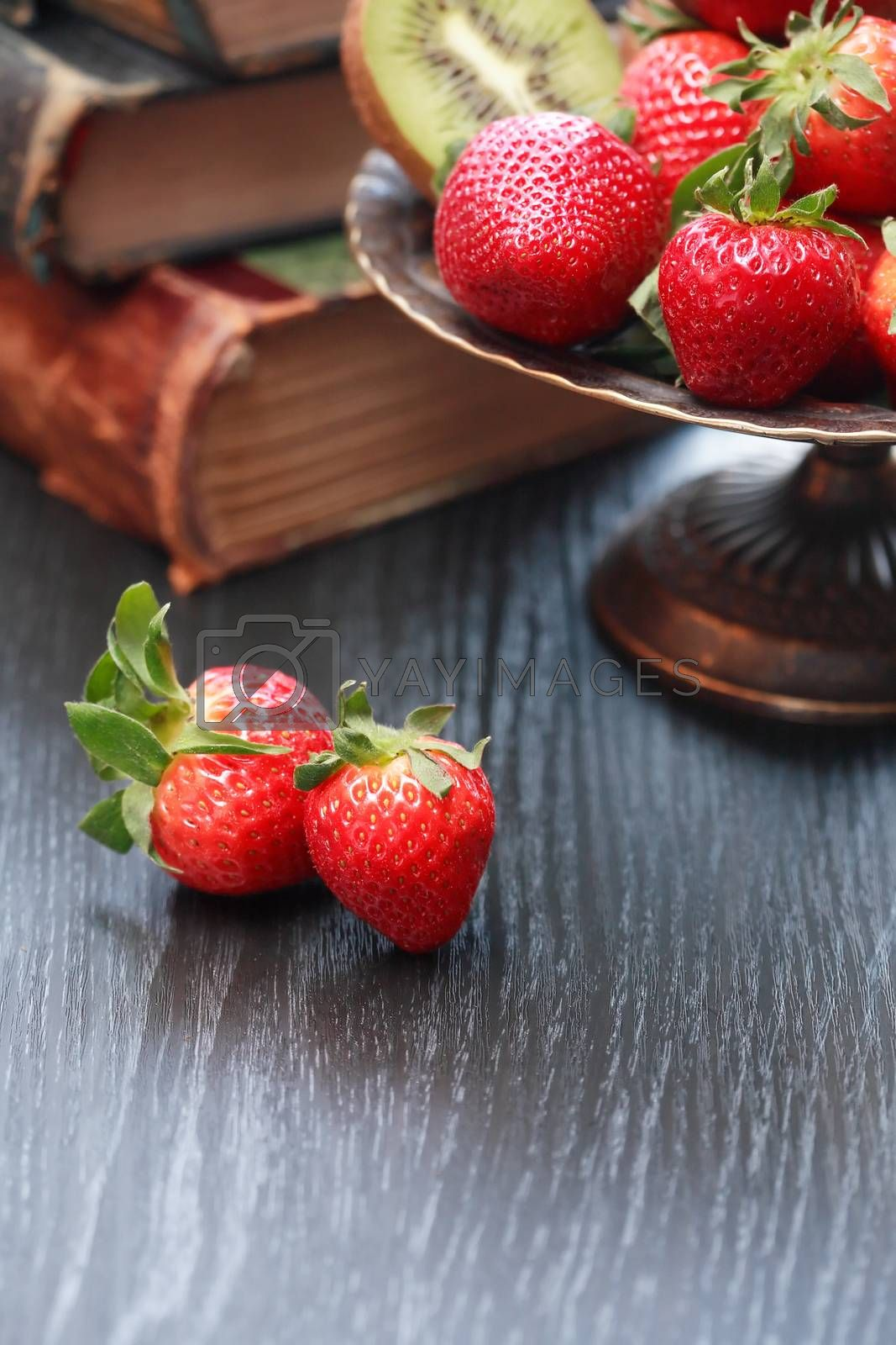 Royalty free image of Fruits And Books by kvkirillov