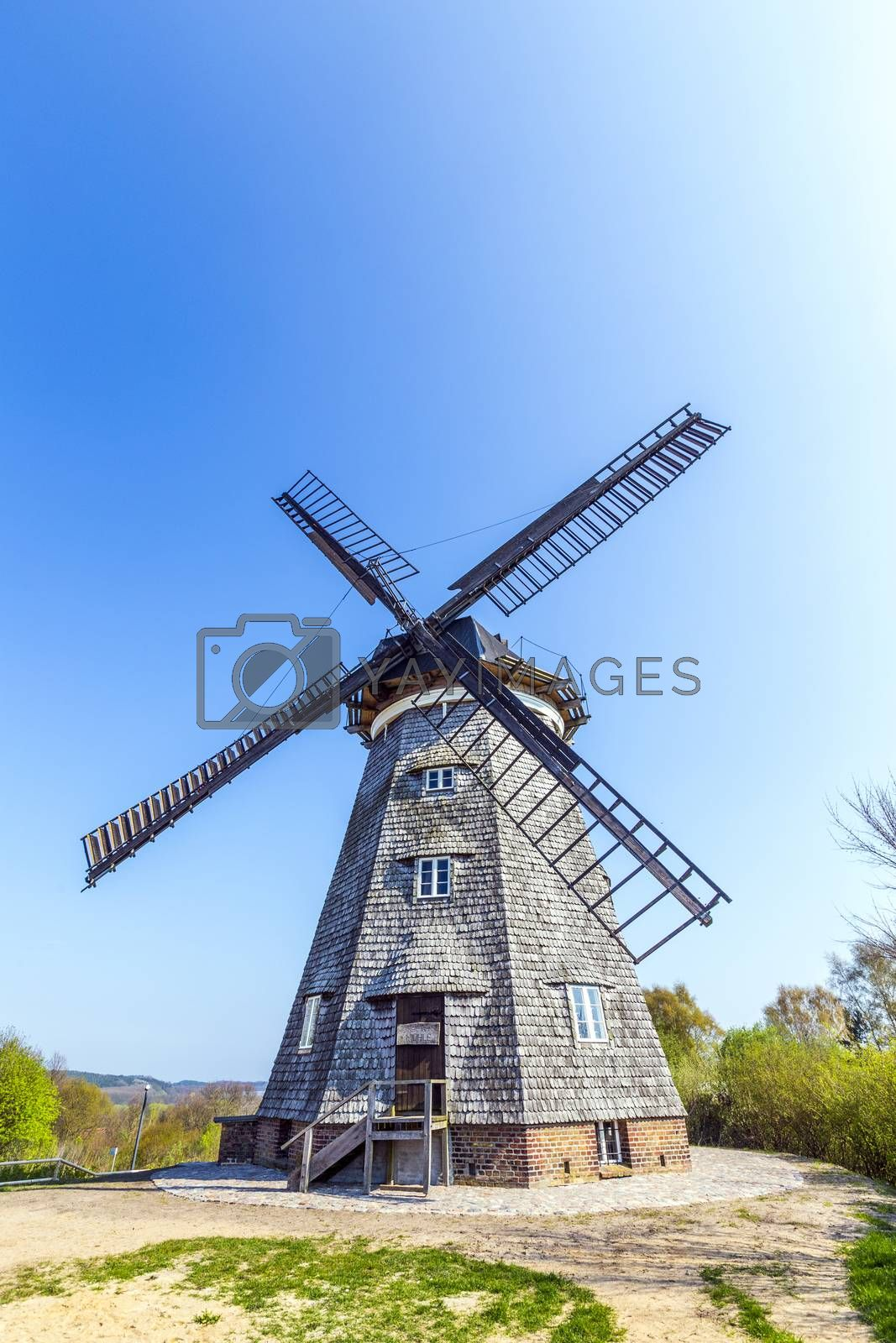 Royalty free image of  Dutch windmill in Benz  by meinzahn