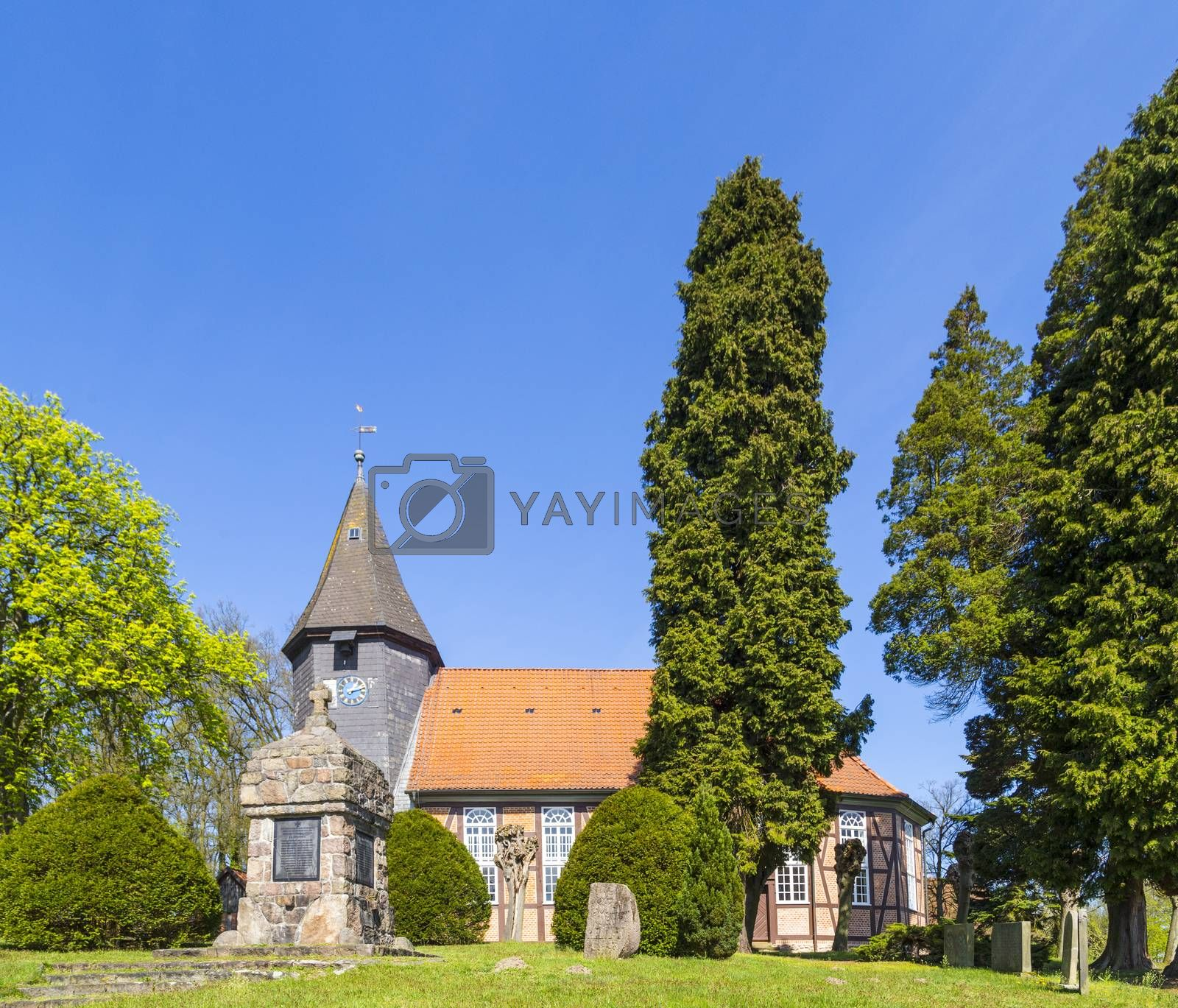 Royalty free image of famous old church in Osterheide by meinzahn