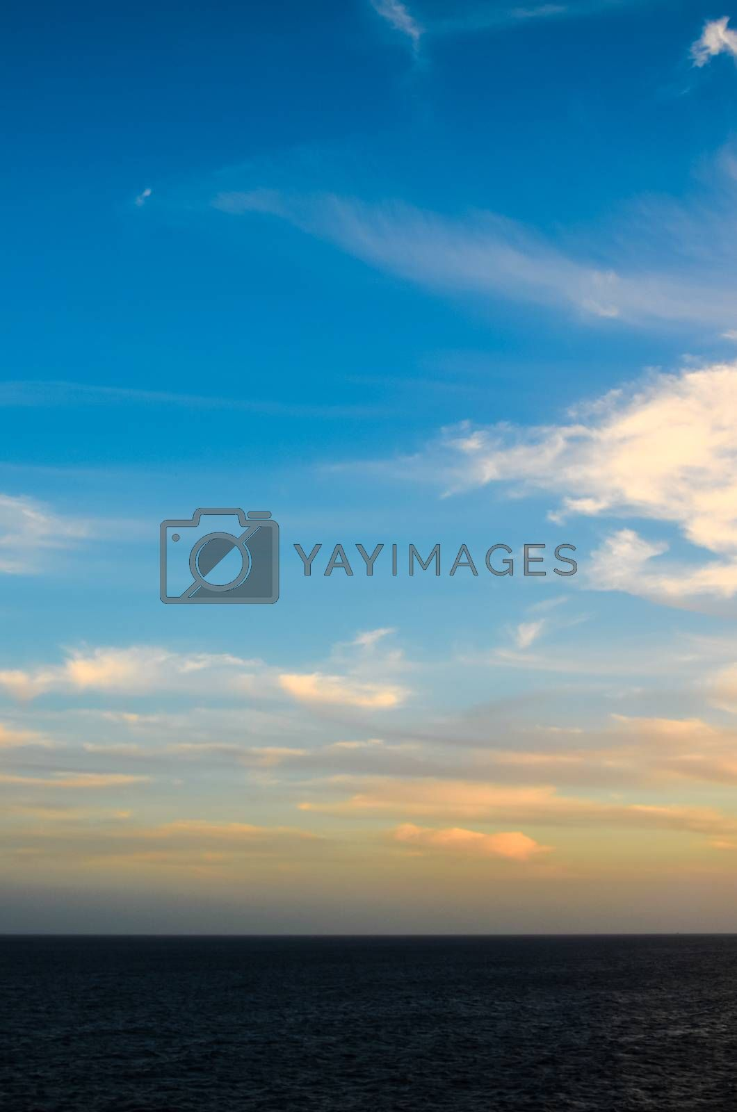 Royalty free image of Colored Clouds at Sunset by underworld