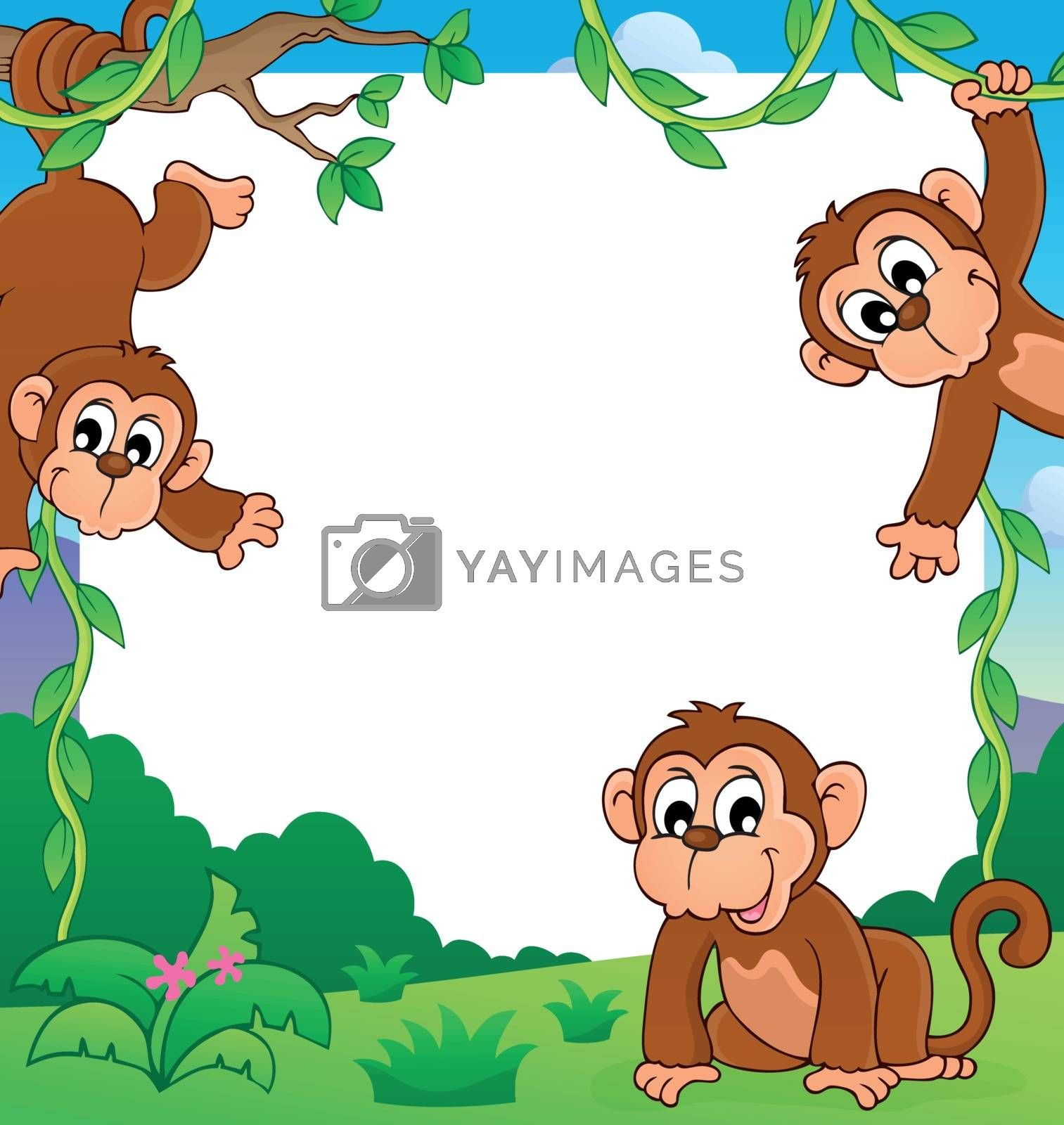 Royalty free image of Monkey thematic frame 1 by clairev
