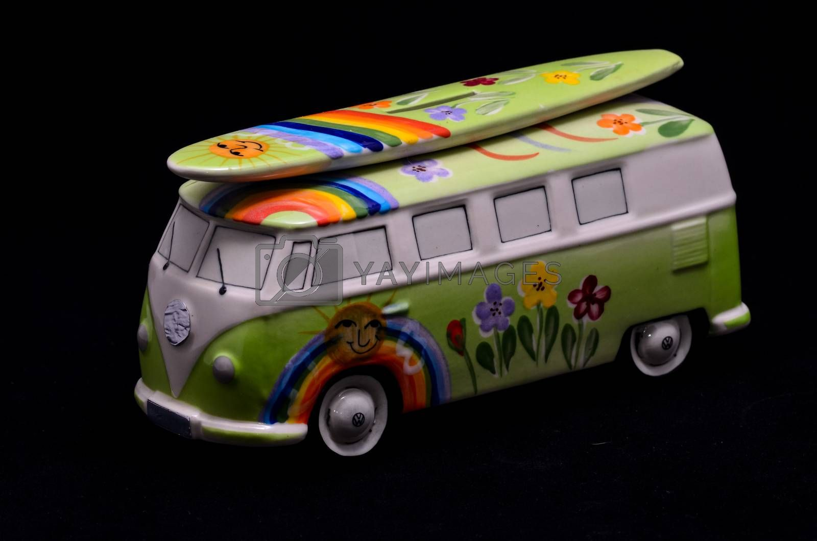 Royalty free image of Happy Hippie Bus by underworld