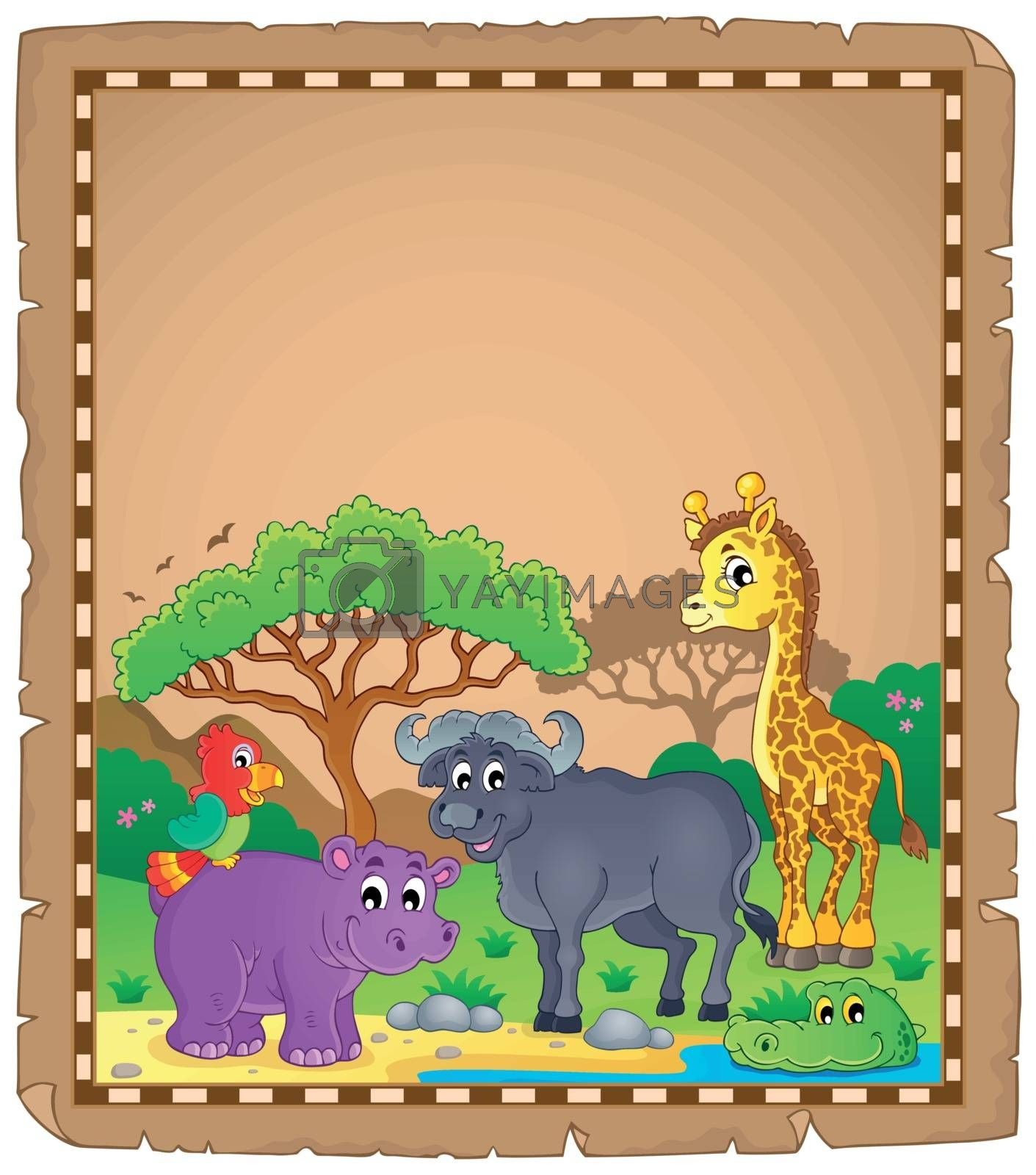 Royalty free image of Parchment with African animals 3 by clairev