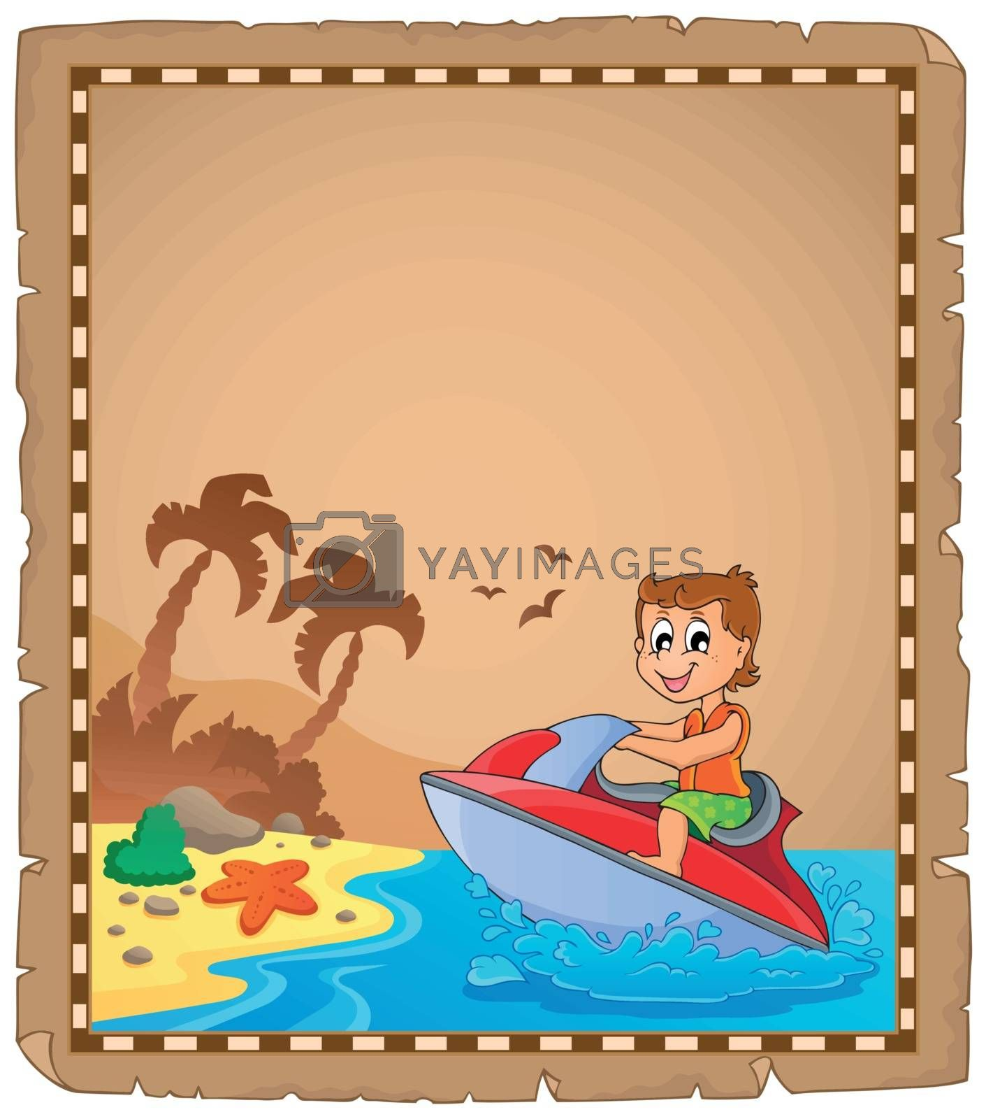 Parchment with travel theme 4 - eps10 vector illustration.