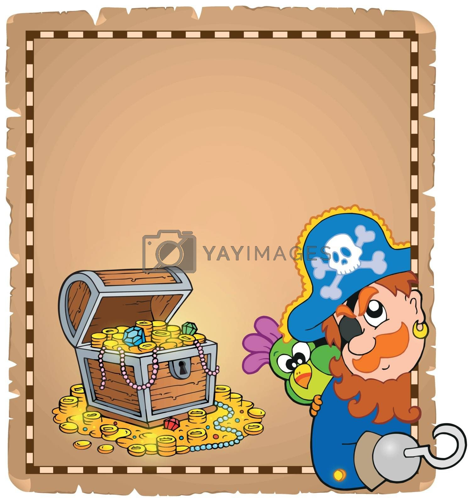 Royalty free image of Pirate theme parchment 8 by clairev