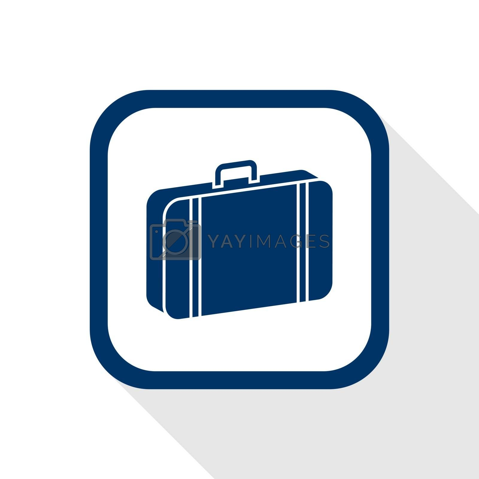 Royalty free image of case flat icon by Ardely