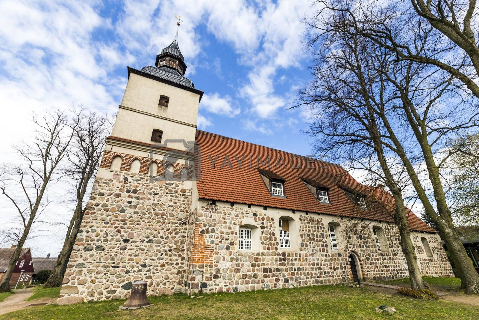 Royalty free image of old church in the small village of Benz by meinzahn