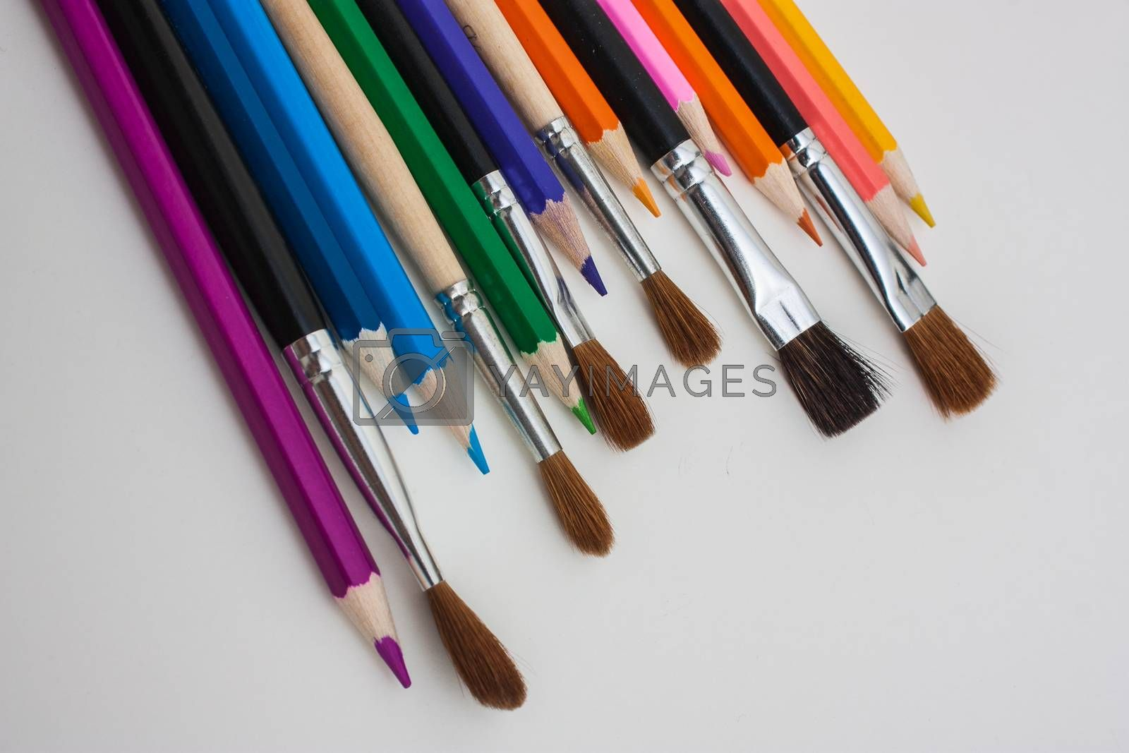 Royalty free image of drawing tools by oleg_zhukov