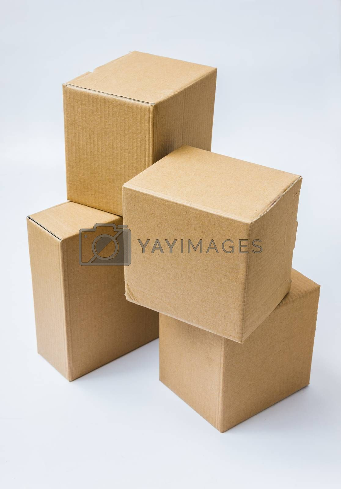 Royalty free image of Cardboard boxes for goods and products by oleg_zhukov