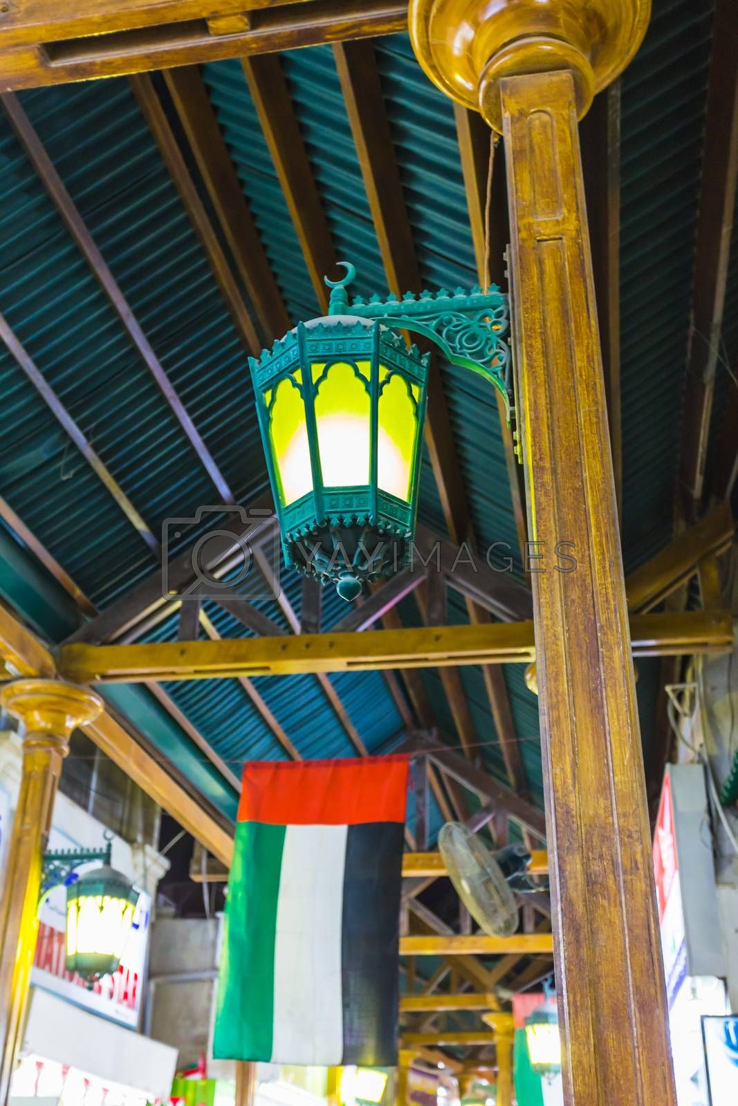 Royalty free image of Arab street lanterns in the city of Dubai by oleg_zhukov