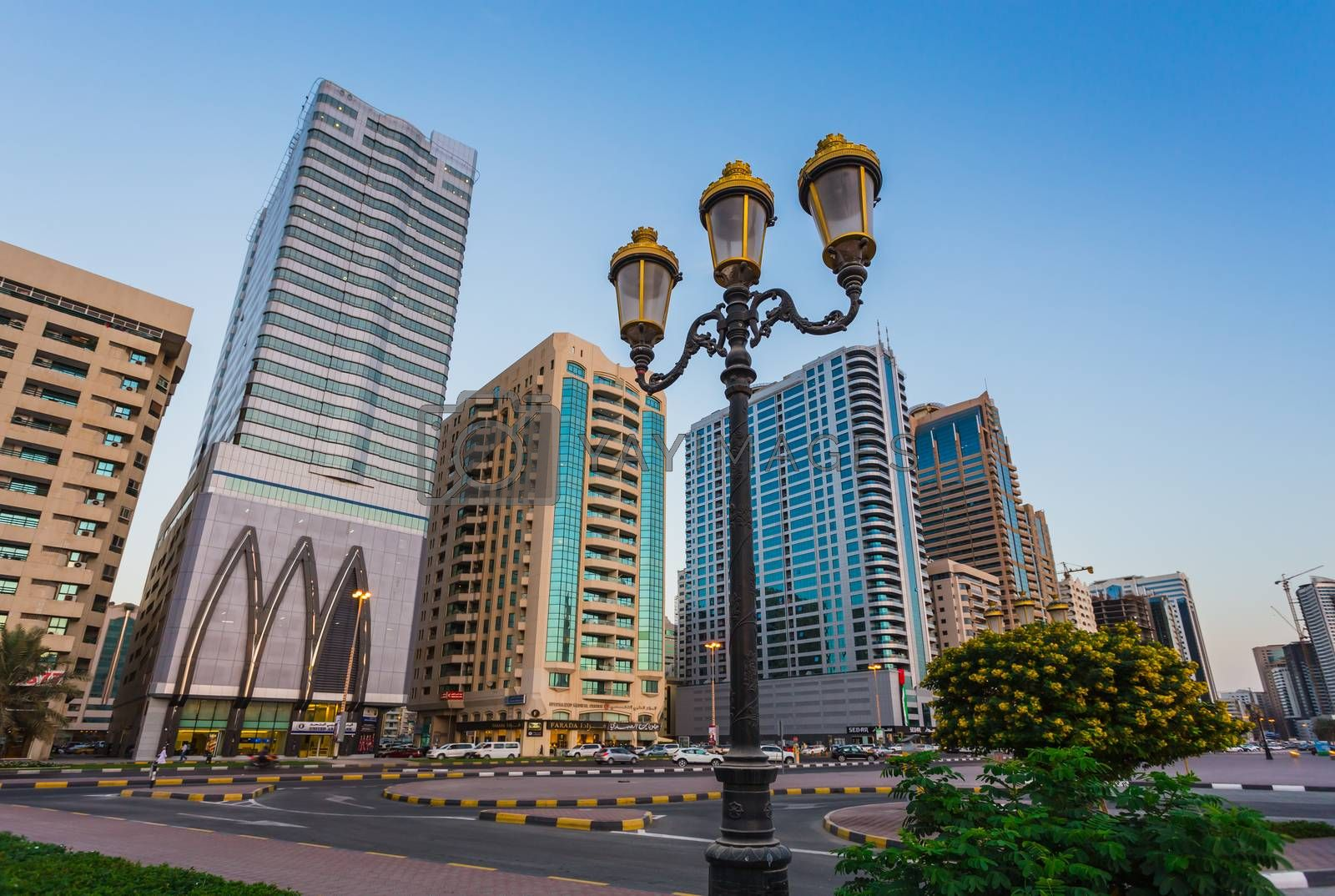 Royalty free image of Skyscrapers in Sharjah city.UAE. by oleg_zhukov