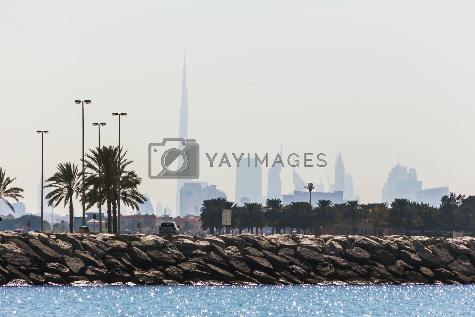 Royalty free image of Water landscape with  views of Dubai cityline by oleg_zhukov