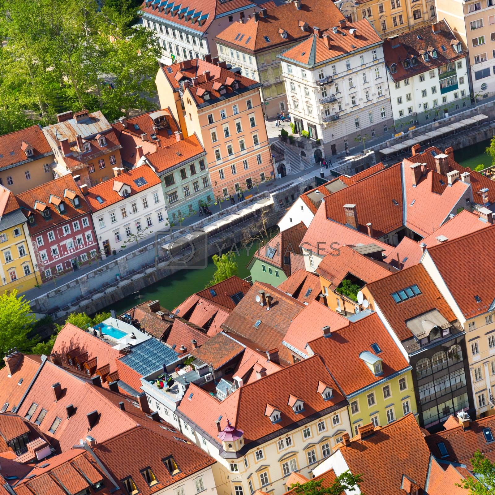 Royalty free image of Panorama of Ljubljana, Slovenia, Europe. by kasto