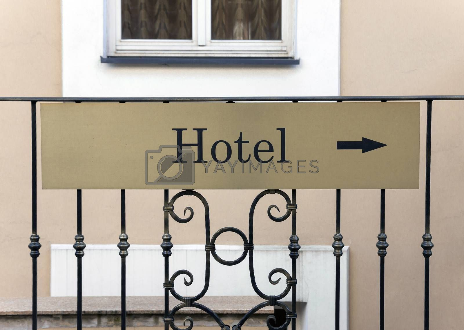 Royalty free image of Hotel sign  by Cebas