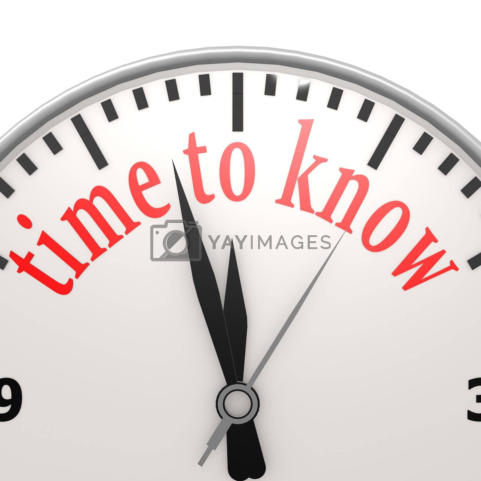Royalty free image of Time to know by tang90246