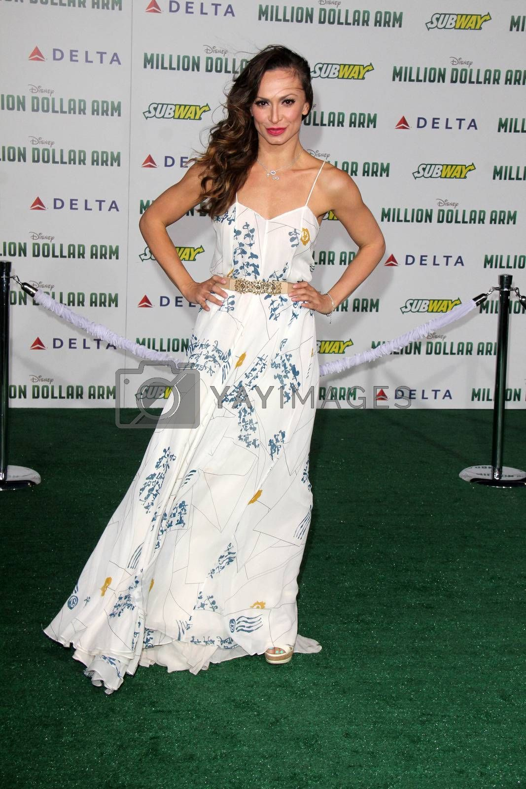 """Royalty free image of Karina Smirnoff at the """"Million Dollar Arm"""" World Premiere, El Capitan, Hollywood, CA 05-06-14/ImageCollect by ImageCollect"""