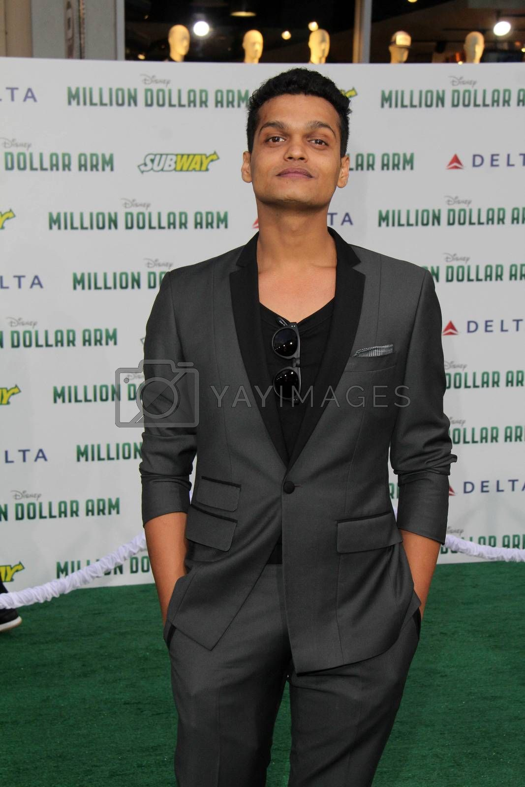 """Royalty free image of Madhur Mittal at the """"Million Dollar Arm"""" World Premiere, El Capitan, Hollywood, CA 05-06-14/ImageCollect by ImageCollect"""