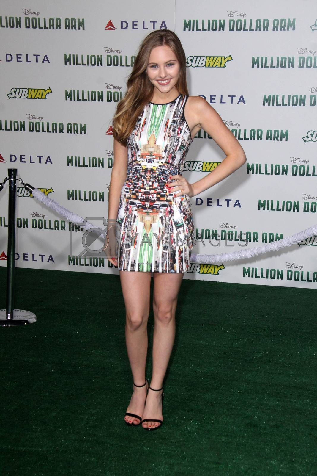 """Royalty free image of Ella Wahlestedt at the """"Million Dollar Arm"""" World Premiere, El Capitan, Hollywood, CA 05-06-14/ImageCollect by ImageCollect"""