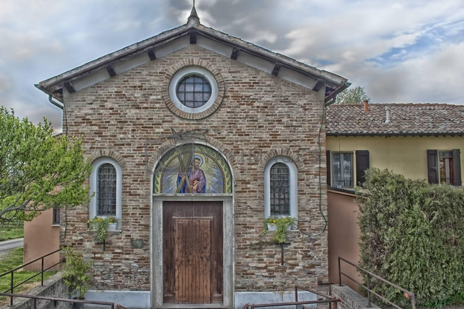 Catholic Church in Italian countryside near Zagonara (Ravenna)