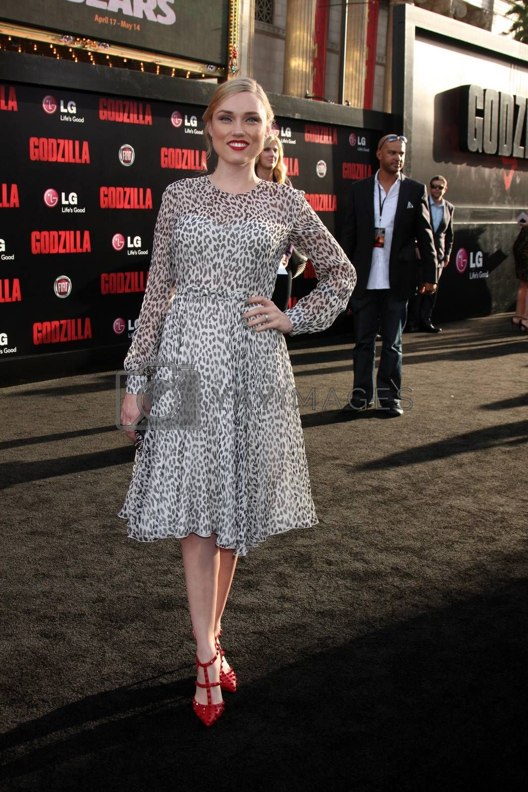 """Clare Grant at the """"Godzilla"""" Los Angeles Premiere, Dolby Theater, Hollywood, CA 05-08-14/ImageCollect by ImageCollect"""