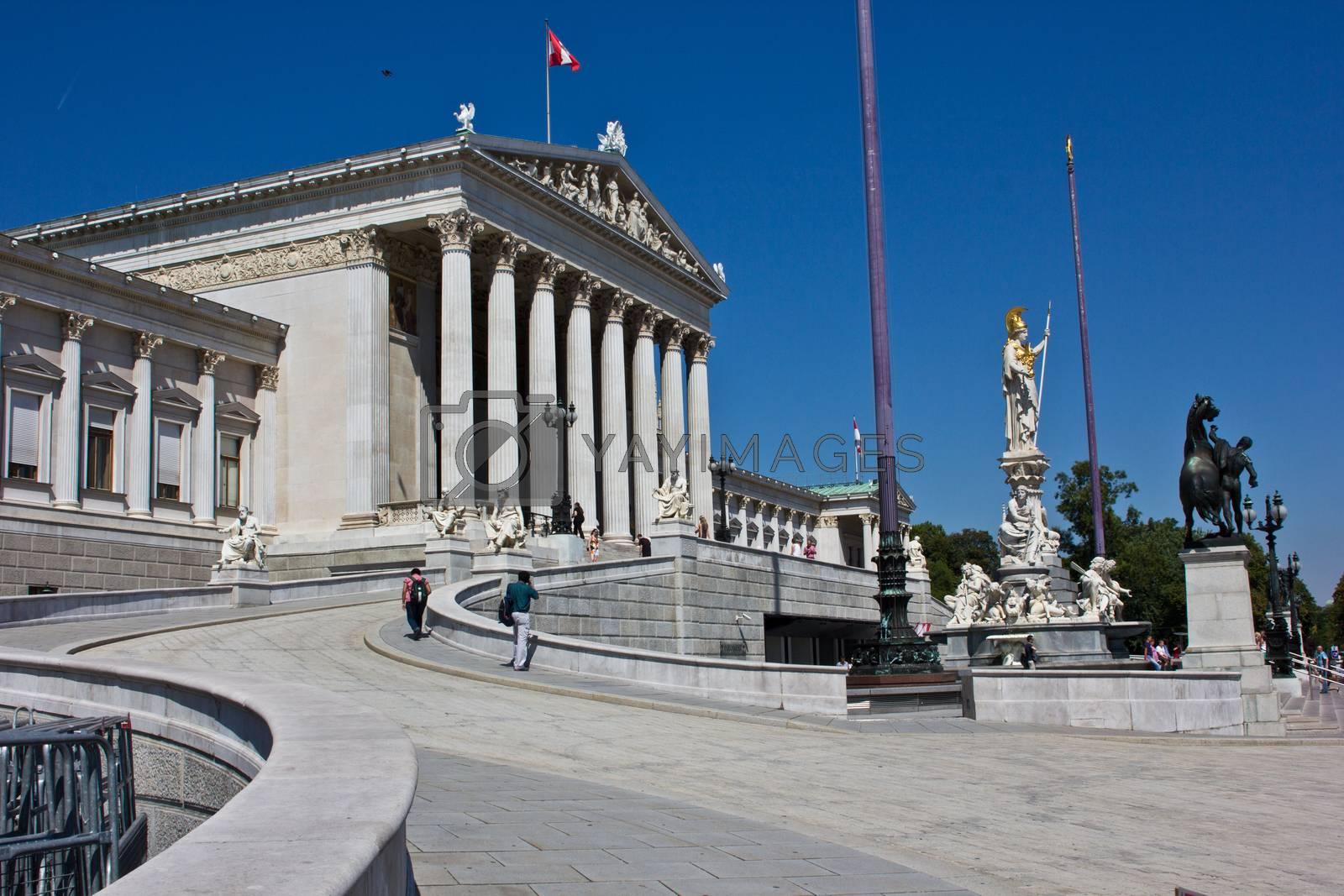 wien parliament by frabimbo