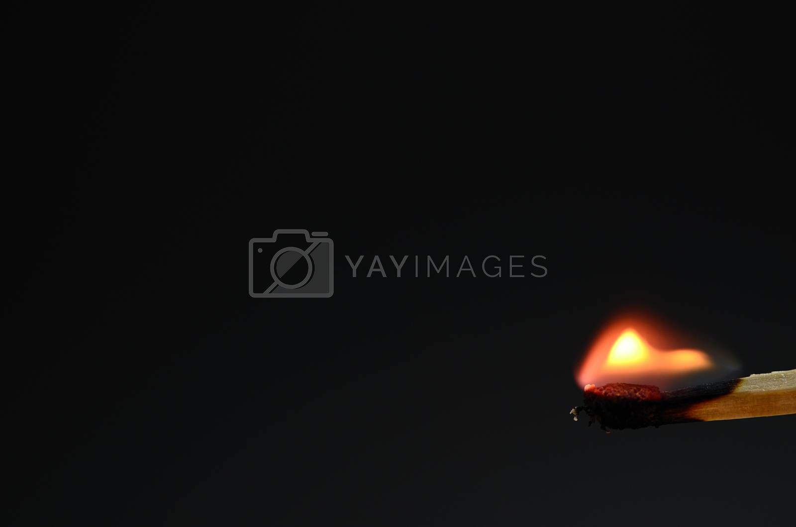 match with a very small flame before delete