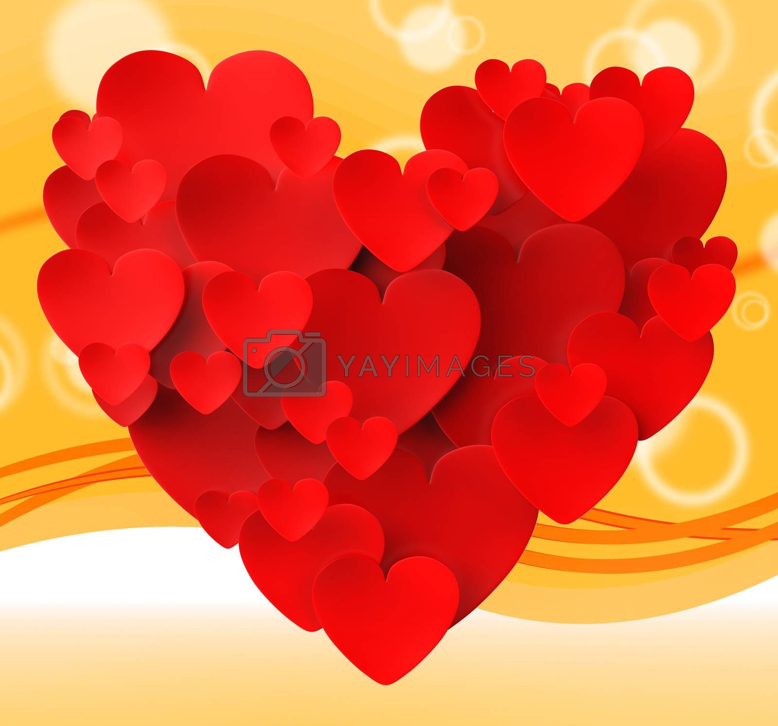 Heart Made With Hearts Meaning Romance Passion And Love