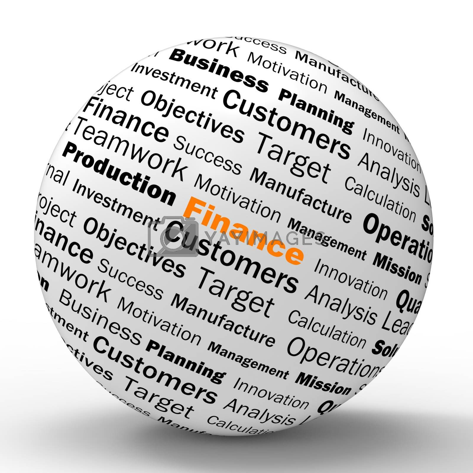 Finance Sphere Definition Shows business Finances Or Incomes by stuartmiles