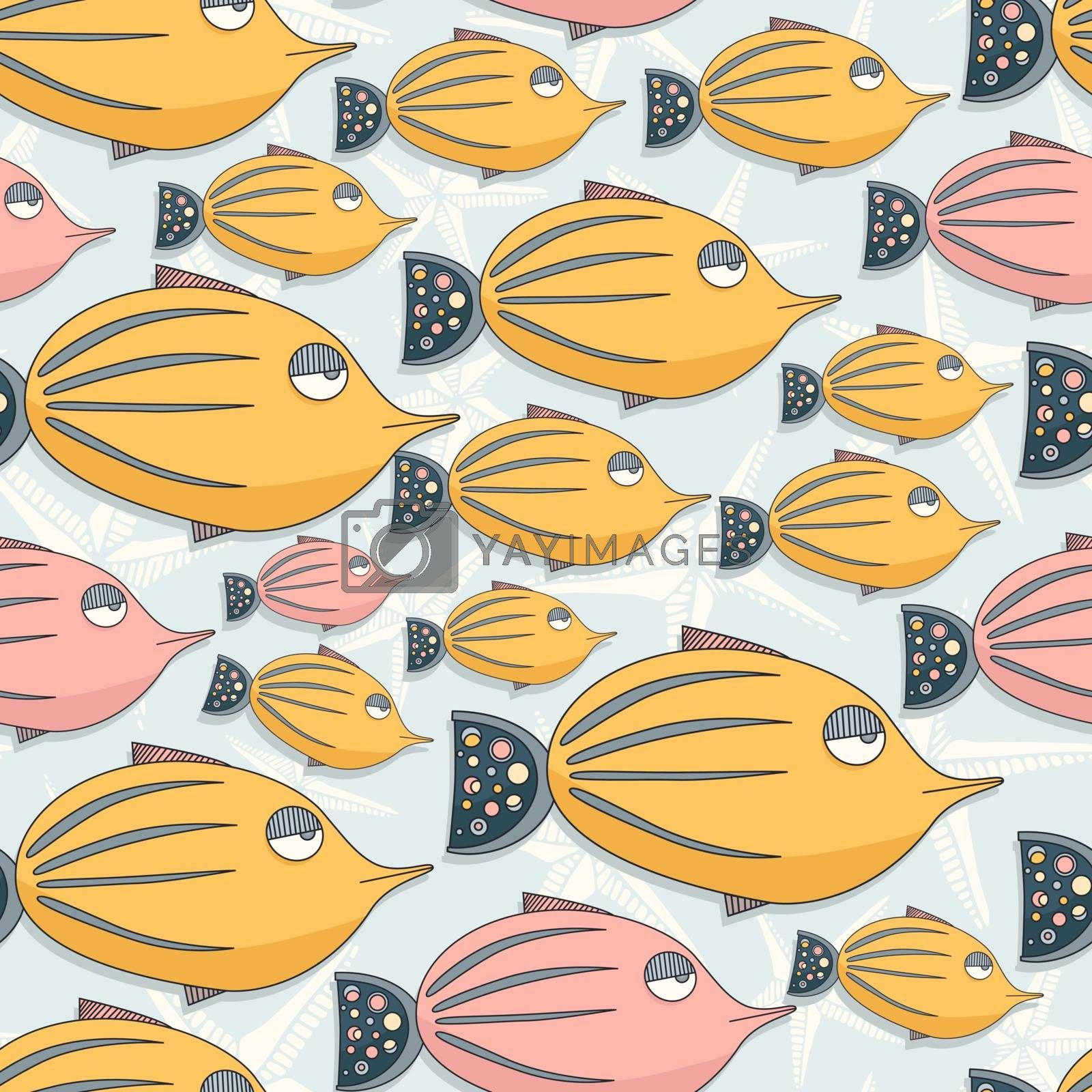 Fish seamless pattern by Favete
