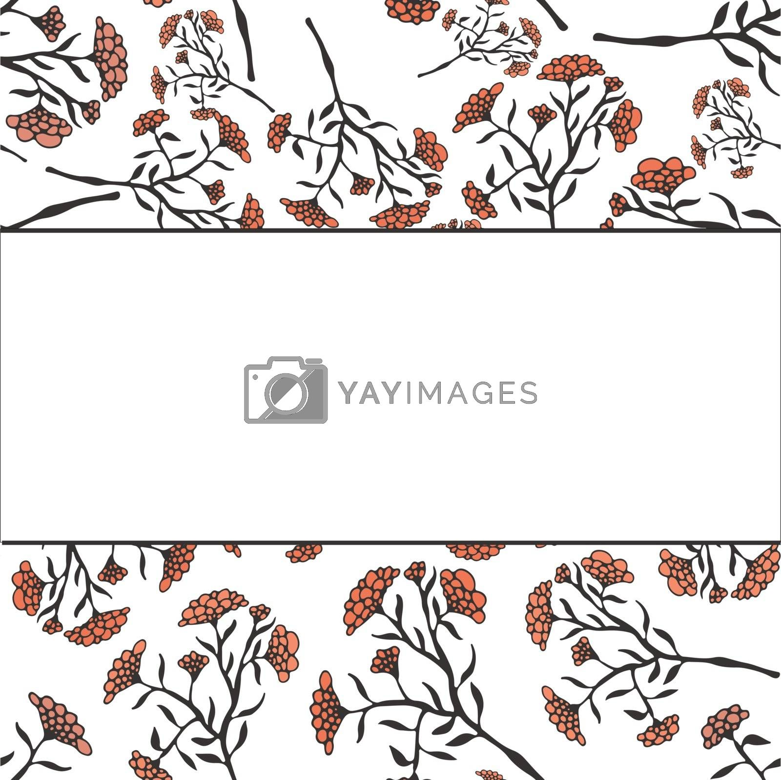 Beautiful vector flower drawn by hand. Perfect floral card templ by Favete