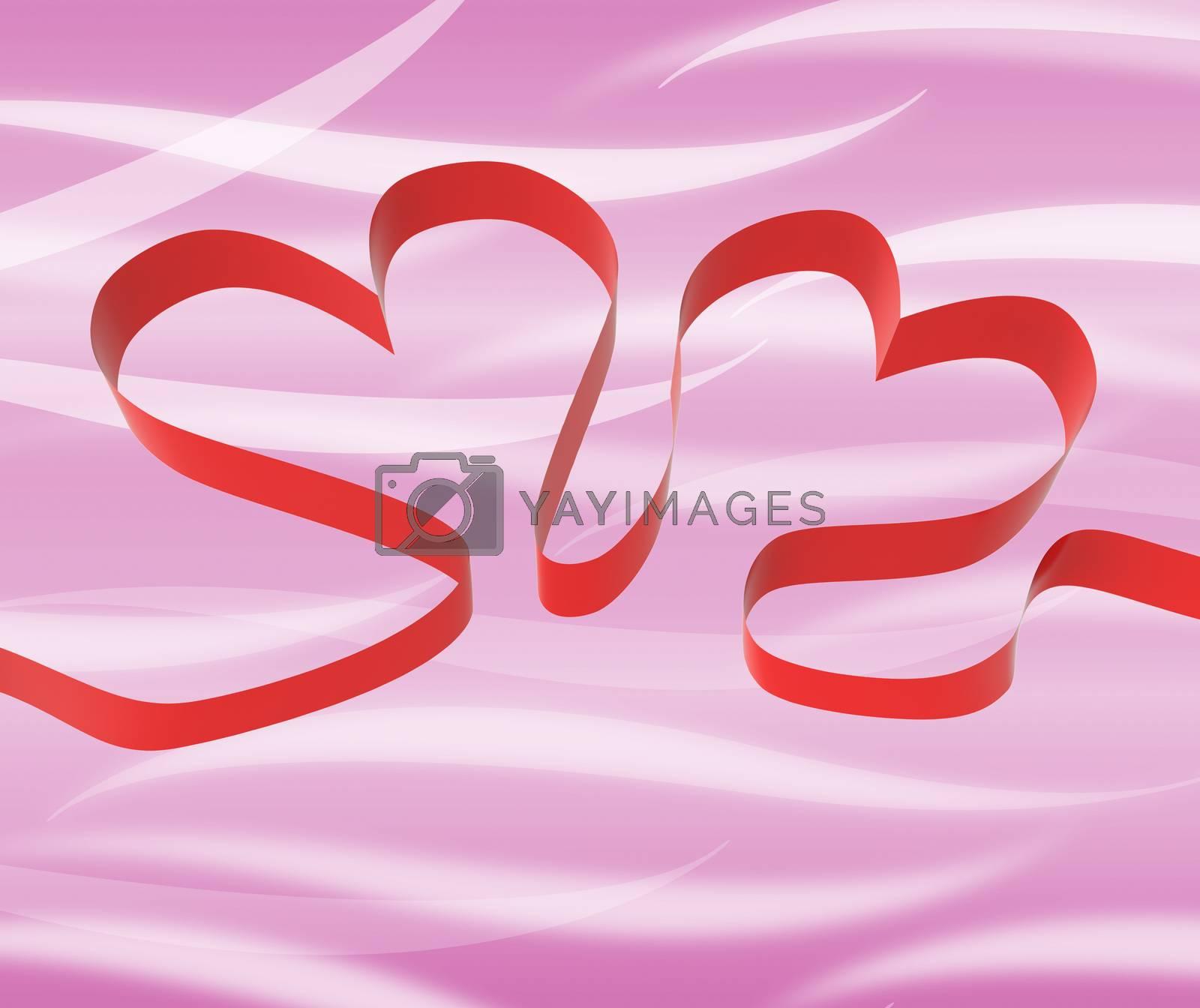 Ribbon Hearts Meaning Romantic Celebration Or Festivity