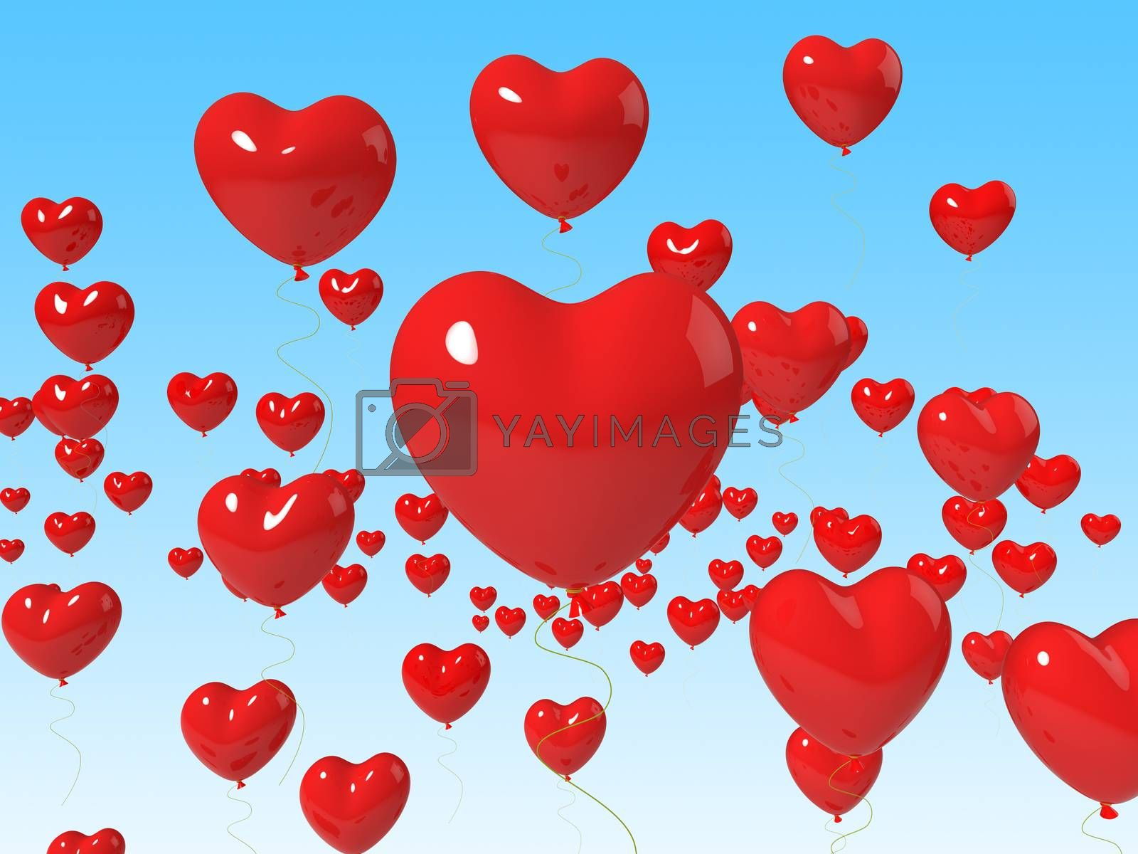 Heart Balloons Floating Meaning Romance Passion And Love