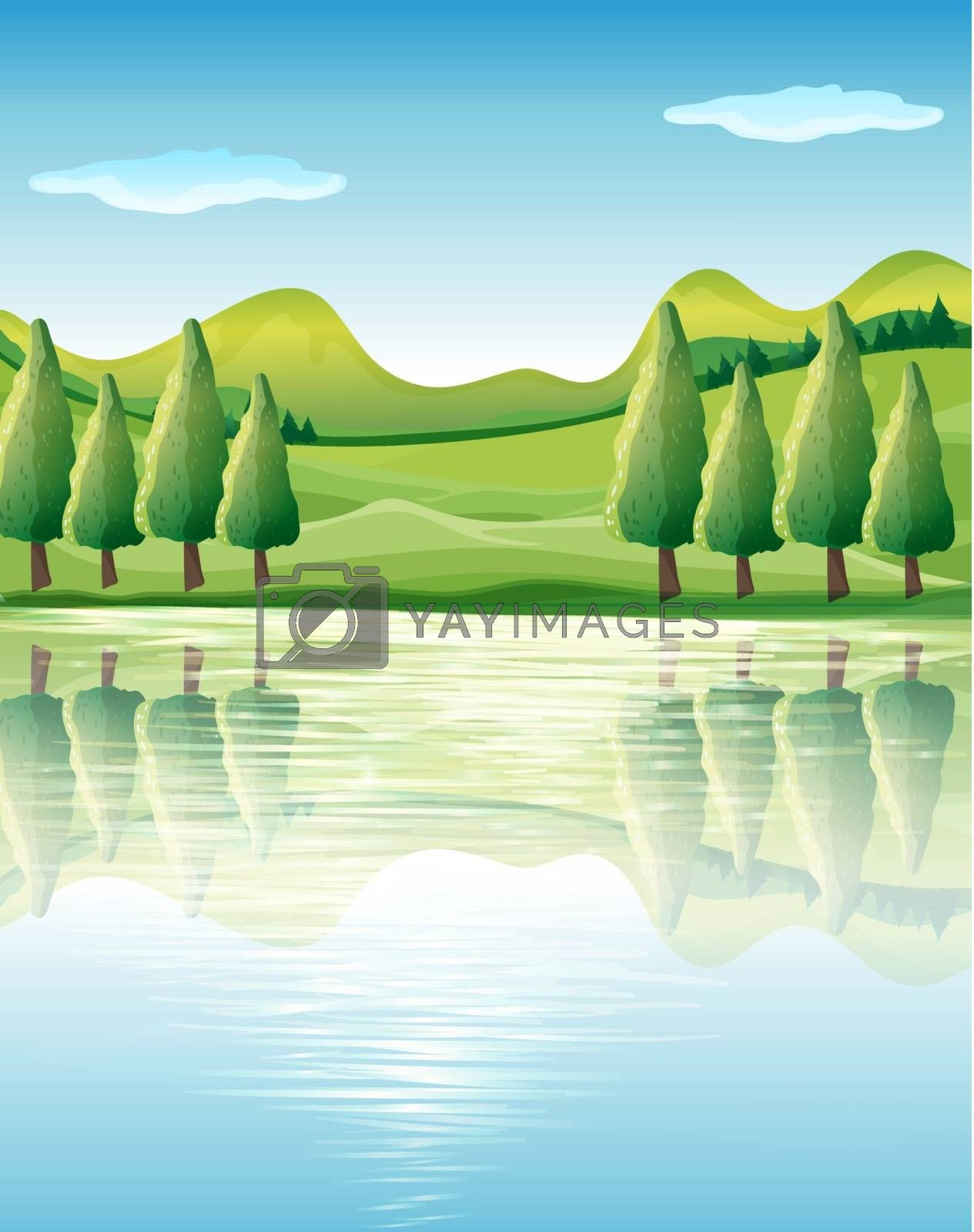 Illustration of the beauty of nature