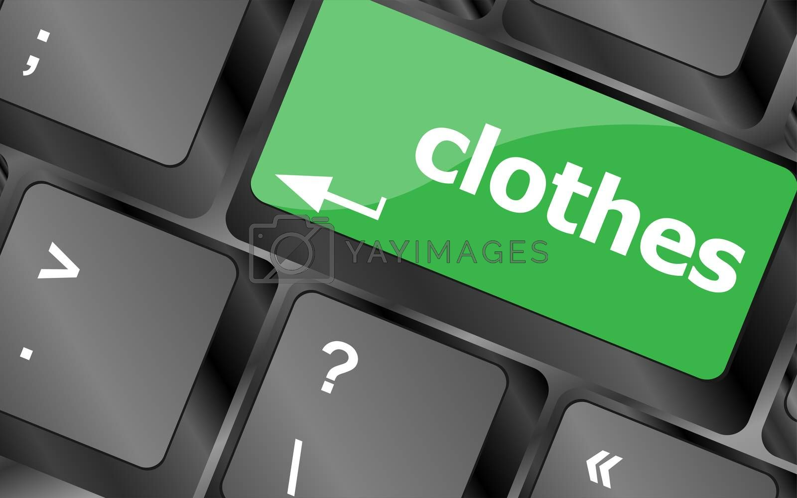 clothes button on computer keyboard