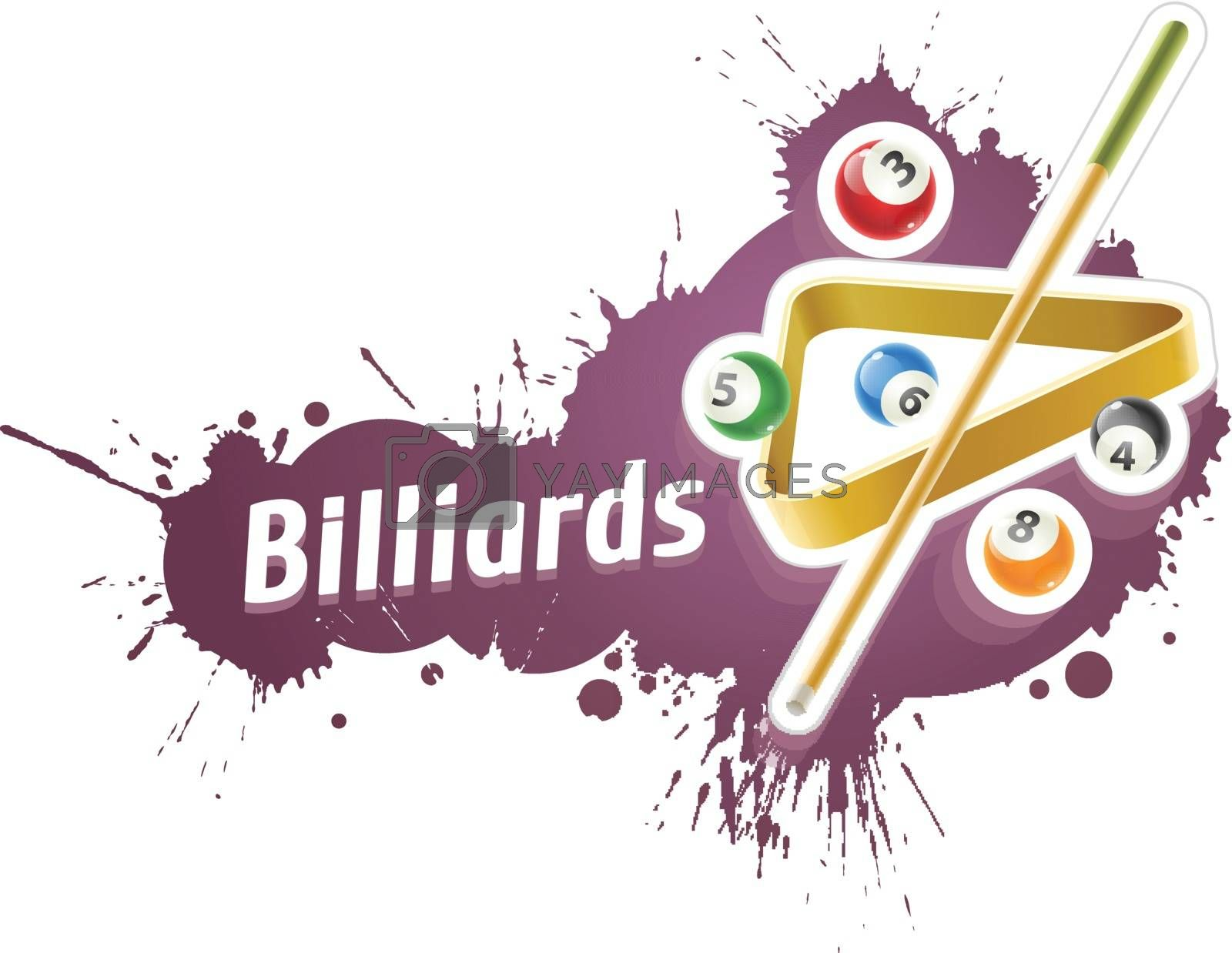 Ball and cue for billiard game by LoopAll