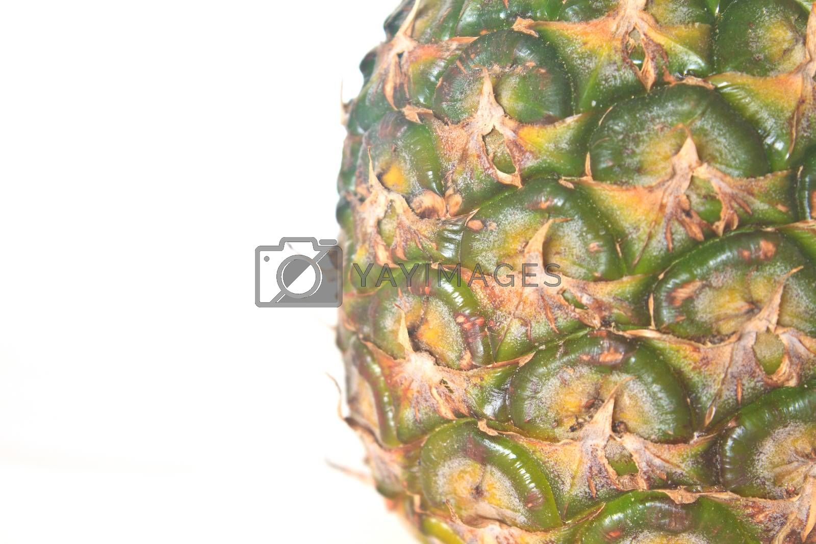 Pineapple isolated on white background