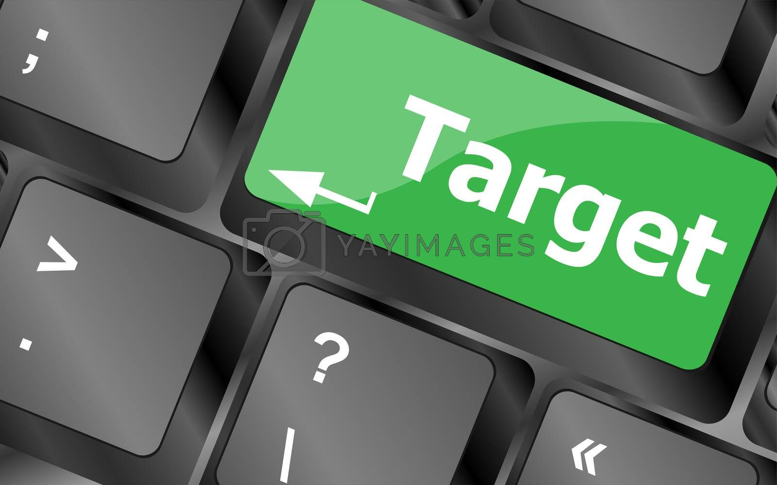 target button on computer keyboard. business concept by fotoscool